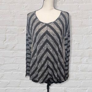 Maurices Black and Gray Long Sleeve Tunic